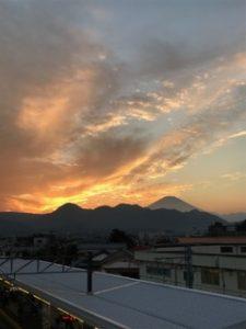 富士山も見えますね