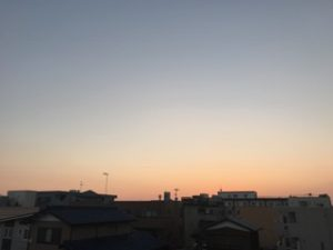 2017.01.04事務社からの夕陽